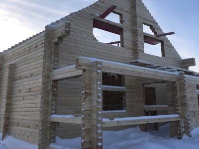 фото Строительство дома из профилированного бруса по проекту  №-14