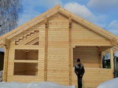 фото Строительство дома из профилированного бруса по проекту  №-15