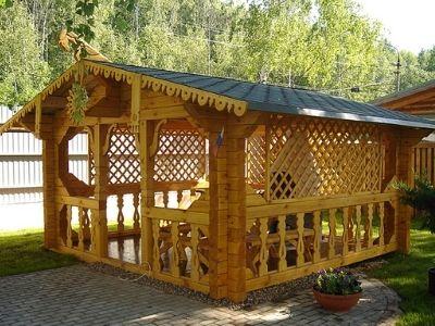 фото Строительство деревянных беседок в Казани