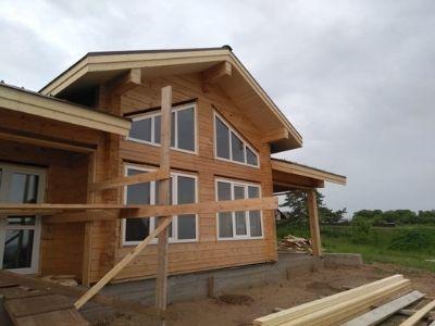 фото Строительство дома из профилированного бруса Шураны