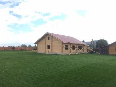 фото Строительство дома из профилированного бруса Карадули