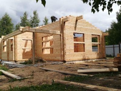 фото Строительство дома из профилированного бруса Заречье