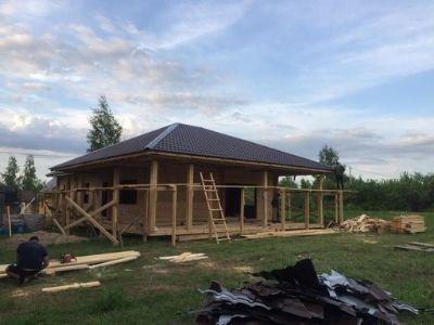 фото Строительство дома из профилированного бруса по проекту Сирень