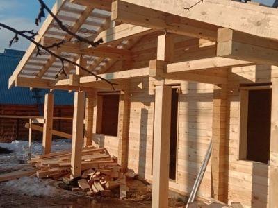 фото Строительство дома из профилированного бруса по проекту Северный, Сапуголи