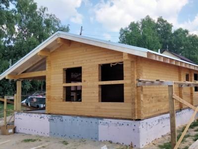 фото Строительство дома из профилированного бруса по проекту Карьер