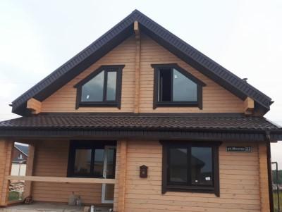 фото Строительство дома из профилированного бруса по проекту Эстачи