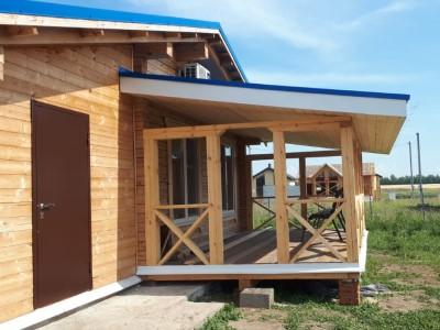 фото Строительство дома из профилированного бруса Травкино